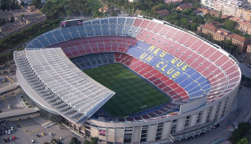 See how georgeous the biggest stadium in Europe - Camp Nou - looks