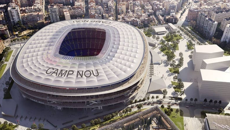The proposed design for the renovation of Camp Nou stadium