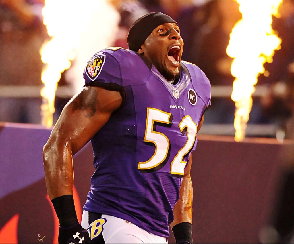 Baltimore Ravens' greatest player in History, Ray Lewis.