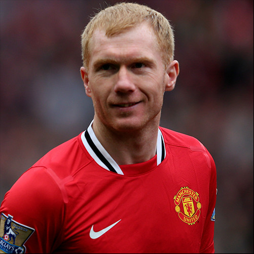 Man United great play-maker and passer, Paul Scholes
